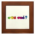 Got ASL? Rainbow Framed Tile