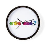 Got ASL? Rainbow Wall Clock