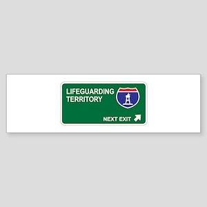 Lifeguarding Territory Bumper Sticker