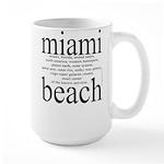 367.miami beach Large Mug
