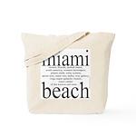 367.miami beach Tote Bag