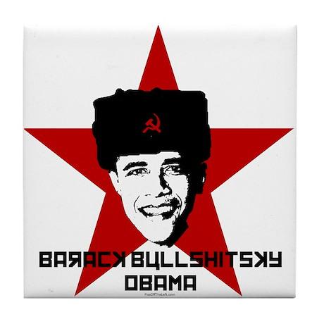 Barack Bullshitsky Obama Tile Coaster