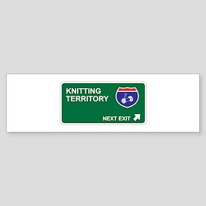 Knitting Territory Bumper Sticker