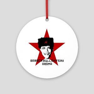 Barack Bullshitsky Obama Ornament (Round)
