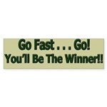 Go Fast...Go! You'll Be The Winner!! Sticker 10 pk