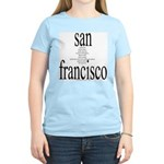 367. san francisco Women's Pink T-Shirt