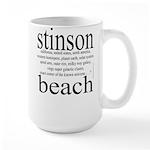 367. stinson beach Large Mug
