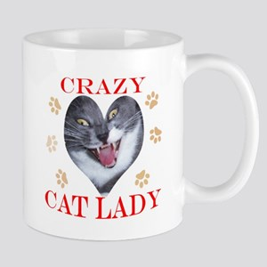 crazy cat lady mug_with paws Mugs