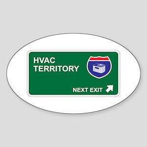 HVAC Territory Oval Sticker