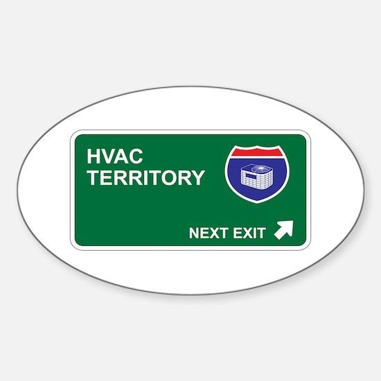 HVAC Territory Oval Decal