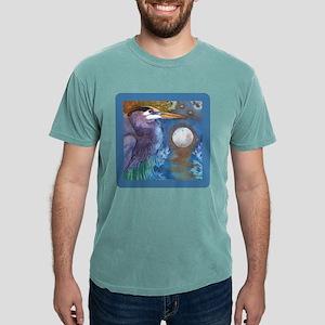 Blue Heron and Bronze Moon T-Shirt
