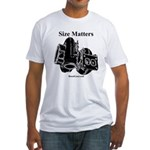 Size Matters - Fitted T-Shirt by BoostGear.com