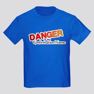 Danger Confirmation Name Kids Dark T-Shirt