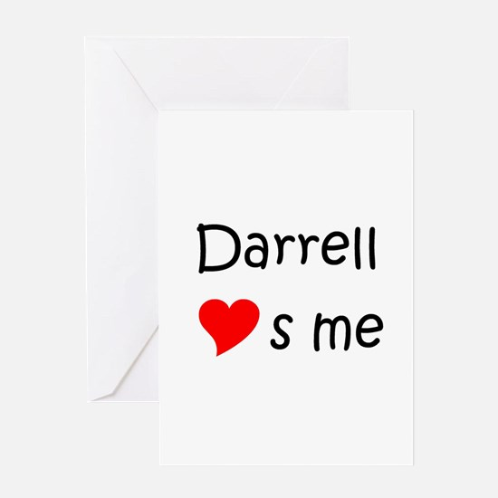 Unique Name darrell Greeting Card