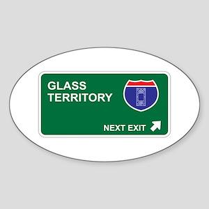 Glass Territory Oval Sticker