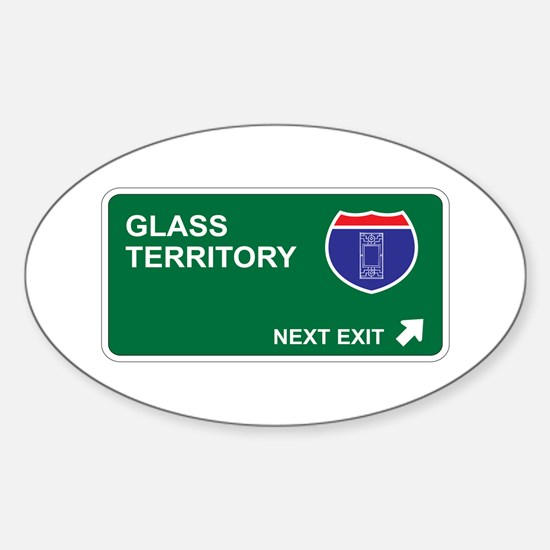 Glass Territory Oval Decal