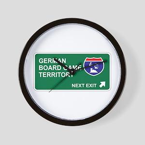 German, Board Game Territory Wall Clock