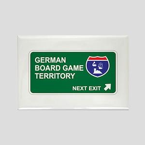 German, Board Game Territory Rectangle Magnet