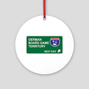 German, Board Game Territory Ornament (Round)