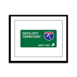 Geology Territory Framed Panel Print