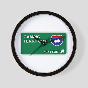 Gaming Territory Wall Clock