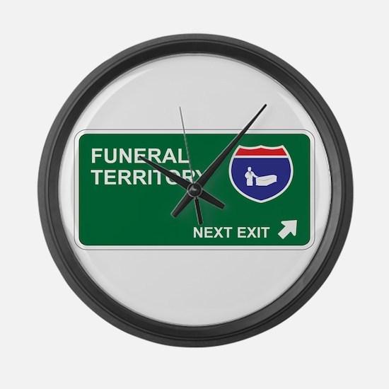 Funeral Territory Large Wall Clock
