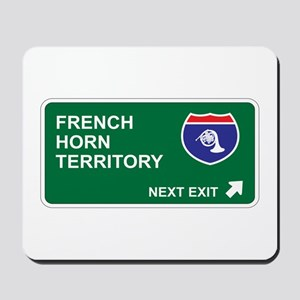 French, Horn Territory Mousepad