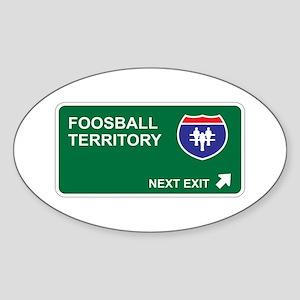 Foosball Territory Oval Sticker