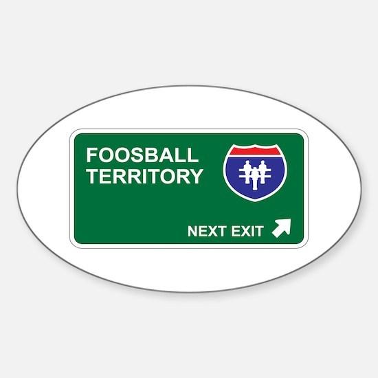 Foosball Territory Oval Decal