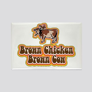 Brown Chicken Brown Cow 2 Rectangle Magnet