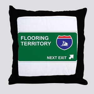 Flooring Territory Throw Pillow
