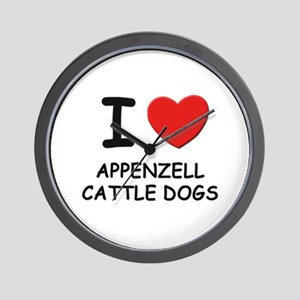 I love APPENZELL CATTLE DOGS Wall Clock