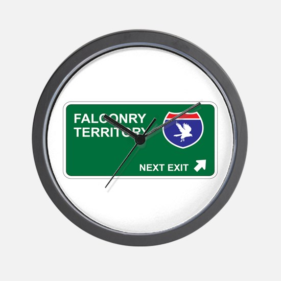 Falconry Territory Wall Clock