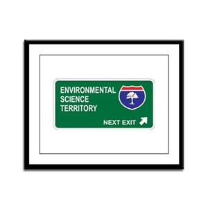 Environmental, Science Territory Framed Panel Prin