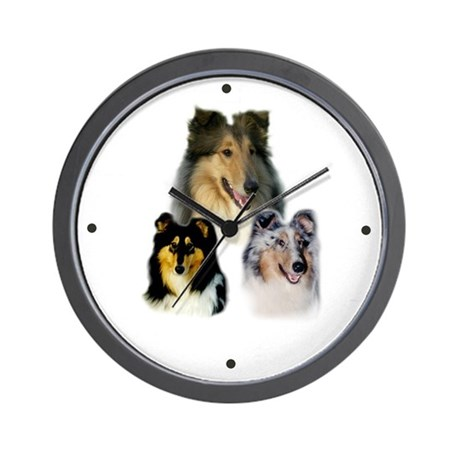 Collie Wall Clock (Sable, Tri, Blue Merle)