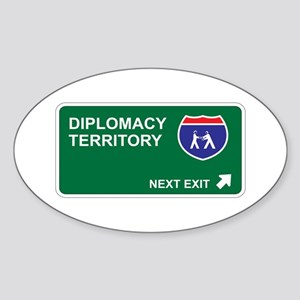 Diplomacy Territory Oval Sticker