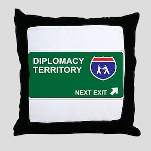 Diplomacy Territory Throw Pillow