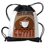 This Is A Job For Coffee Drawstring Bag