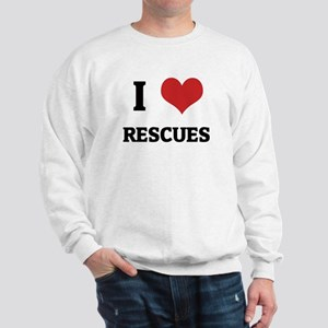 I Love Rescues Sweatshirt