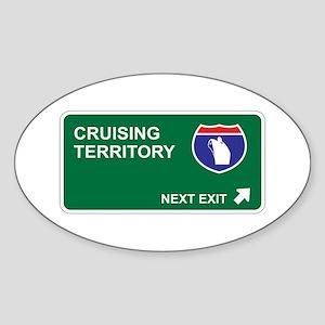 Cruising Territory Oval Sticker