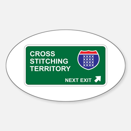 Cross, Stitching Territory Oval Decal