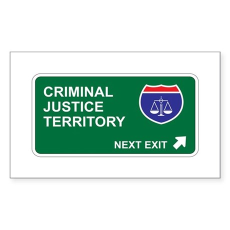Criminal, Justice Territory Rectangle Sticker