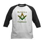Masonic My Dad is a Freemason Kids Baseball Jerse