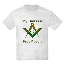 Masonic My Dad is a Freemason Kids T-Shirt