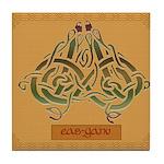 Eas-Ganu (Eel) - Celtic Art Tile Coaster