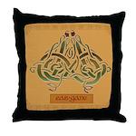 Eas-Ganu (Eel) - Celtic Art Throw Pillow