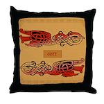 Corr (Crane) - Celtic Art Throw Pillow