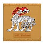 Cwn Annwn (Dog) - Celtic Art Tile Coaster