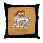 Cwn Annwn (Dog) - Celtic Art Throw Pillow