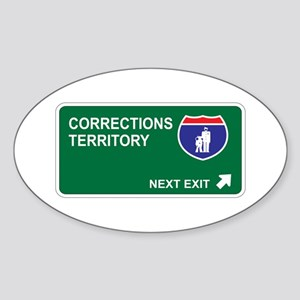 Corrections Territory Oval Sticker